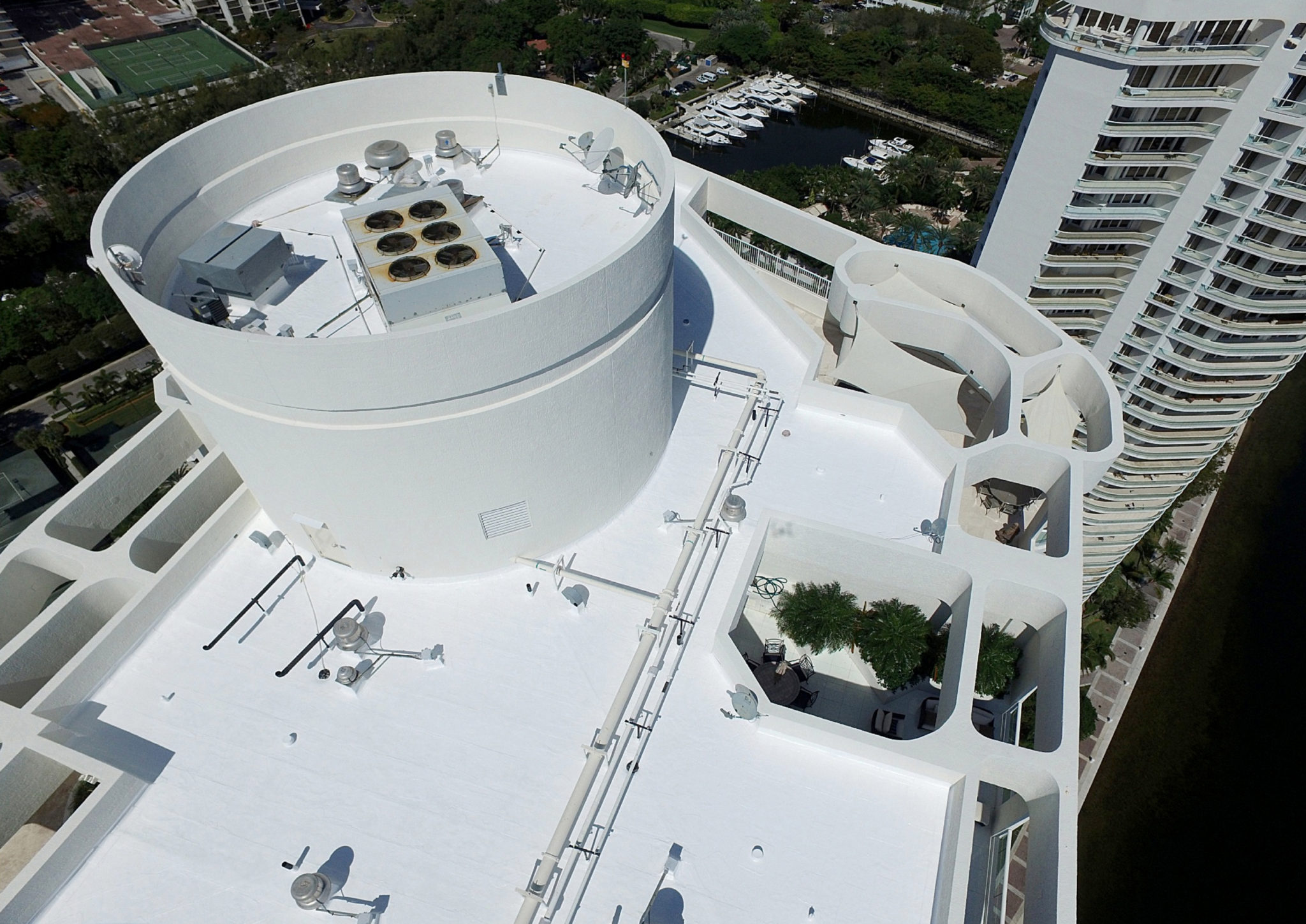 High-rise Energy Efficient Silicone Roof Restoration 2